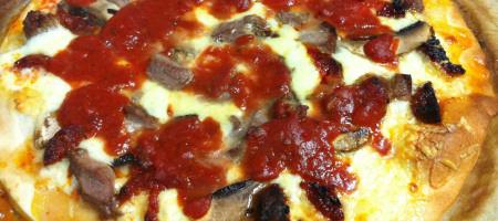 Pizza à la «Trenton tomato pie»