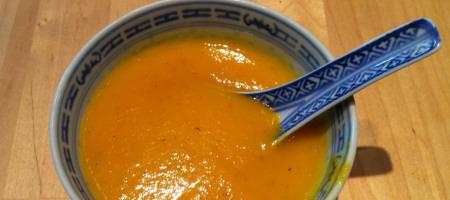 Potage carottes, pommes et pommes de terre
